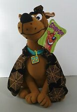 "Rare SCOOBY DOO Plush Toy With Tags Collar Cape Hat NWT Collectible 12"" Vintage"