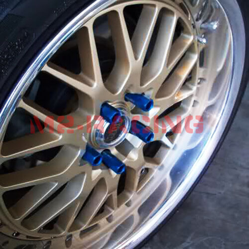 Gunmetal 20 PCS M12X1.25 Lug Nuts Extended Tuner Aluminum Wheels Rims Cap WN02