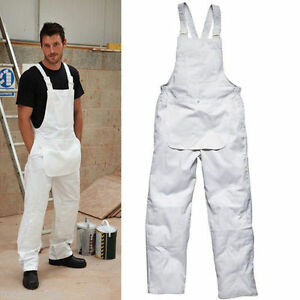 Dickies-Bib-Brace-Work-College-Overall-Painters-Dungarees-White-WD650-S-2XL