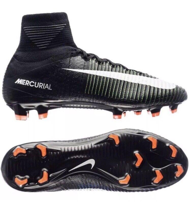 NWT Mens Nike Mercurial Superfly V FG Soccer Cleats - Black- 831940-585- SZ- 6.5