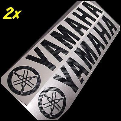 "CARBON FIBER Yamaha 13"" long decals yzf 600 r1 r6 zuma fz 6 1 16 8 09 07 6r M"