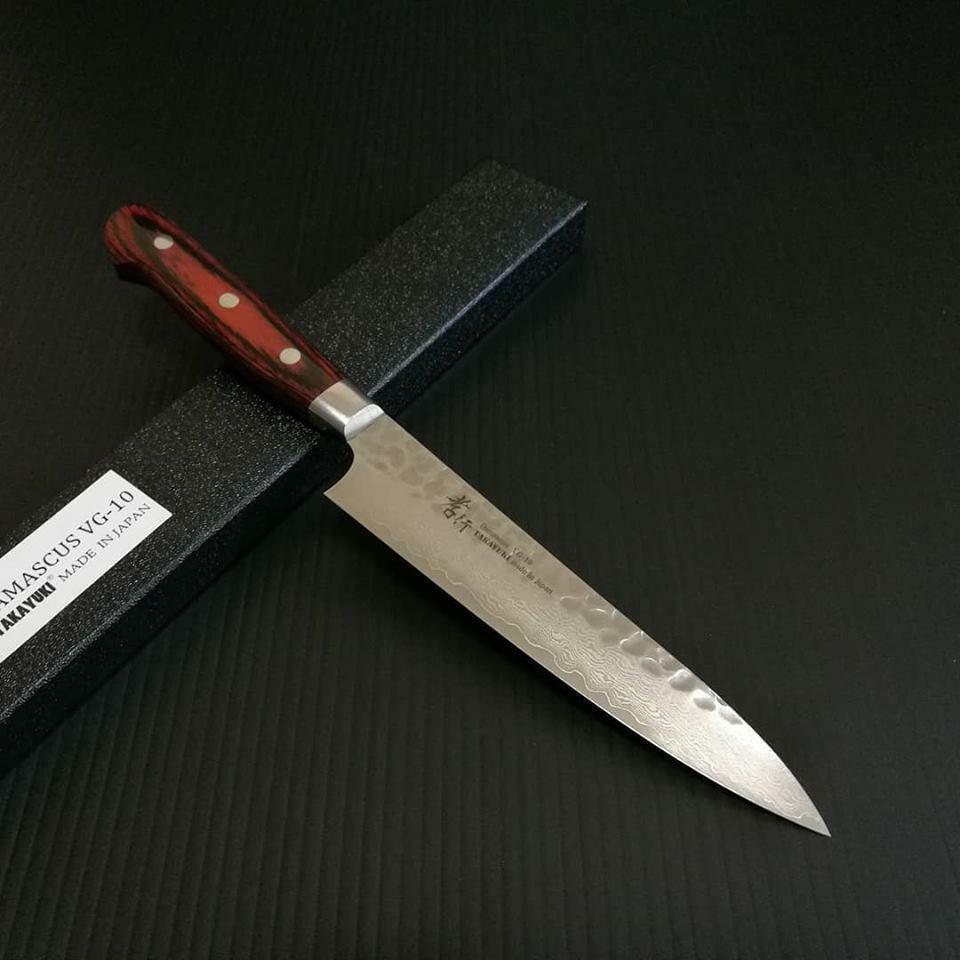 Sakai Takayuki Petty Knife 33-Layer VG10 Damascus Hammerouge 150mm (5.9 )