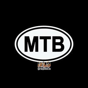 MTB OVAL MOUNTAIN BIKE vinyl sticker Trail Free Ride Downhill XC Single Track