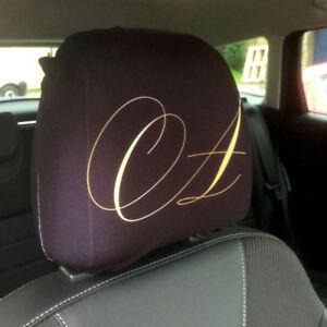 2x Kopfstützenbezüge SCHWARZ Kopfstützen  Bezüge Headrest Covers