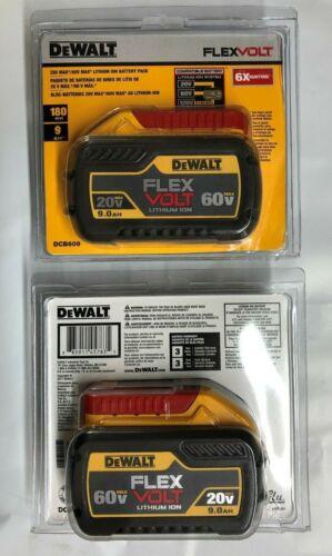 Dewalt DCB609-2 60 volt Flex Volt 9 amp 2 pack Battery NEW in package