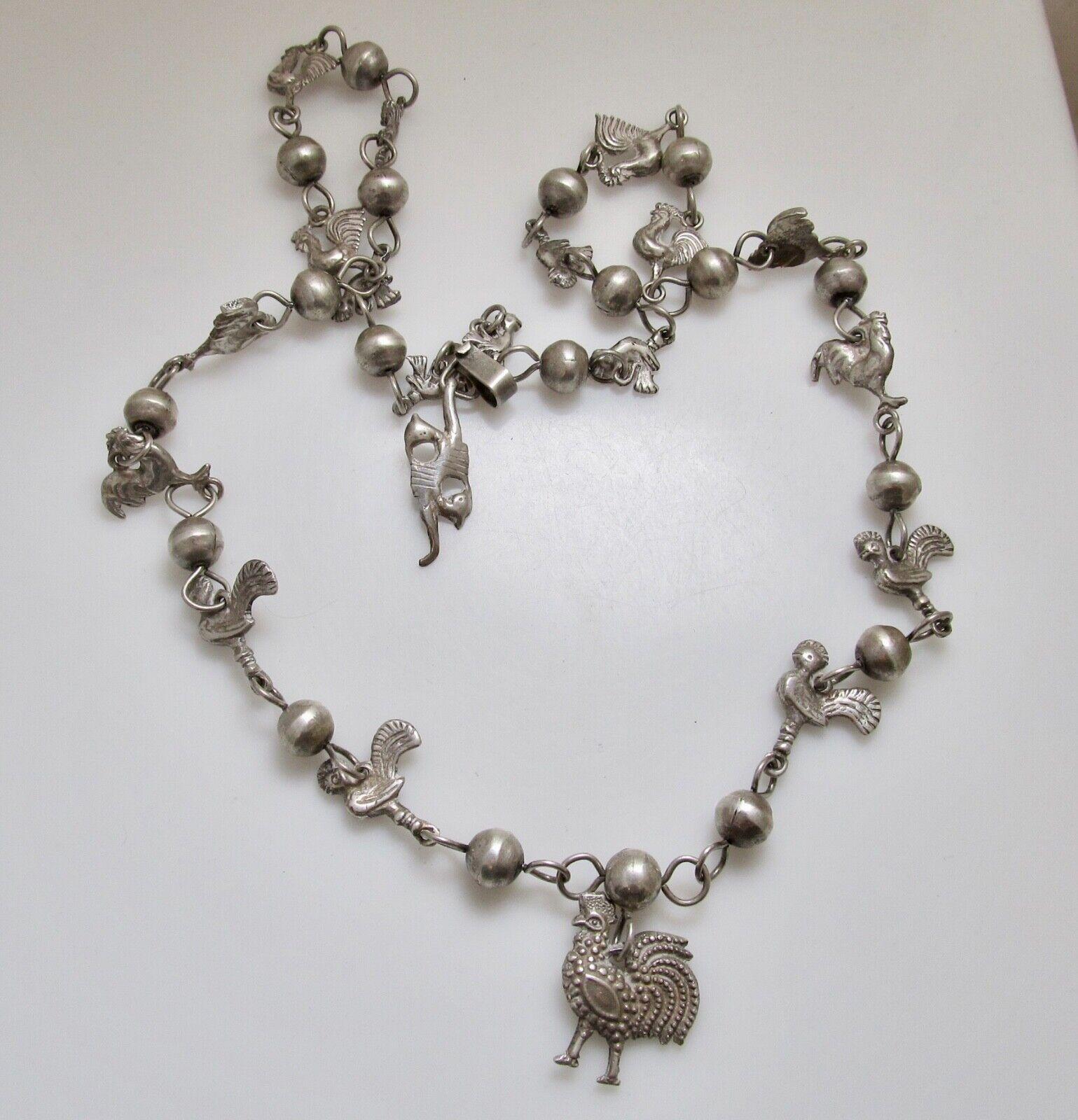 Denim Blue Chicken Bracelet Rustic Gemstone Chicken Jewelry