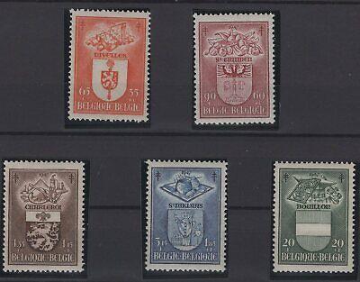 Belgia Belgium Stamps 1947 Mi 798 802 Ebay