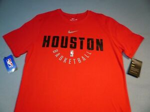 sneakers for cheap 7b3c5 acc37 Details about Nike Houston Rockets Basketball Practice BRAND NEW t-shirt  dri fit athletic cut