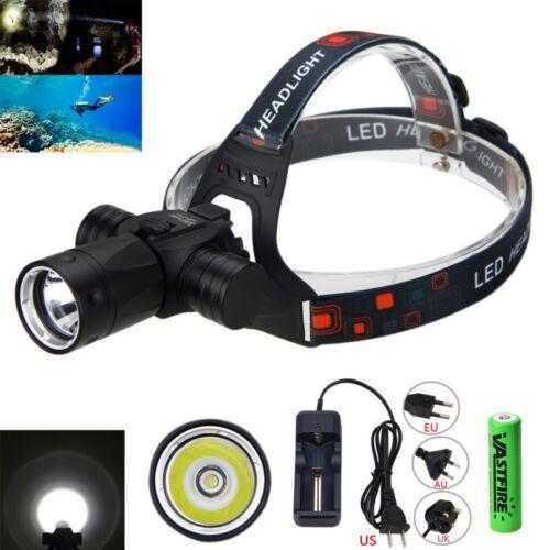 Unterwasser 100m 6000Lm XM-L T6 LED Tauchen Kopf Licht Taschenlampe Scheinwerfer