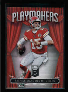 PATRICK-MAHOMES-II-2019-DONRUSS-ELITE-PM-8-PLAYMAKERS-CHIEFS-CARD-AX8736