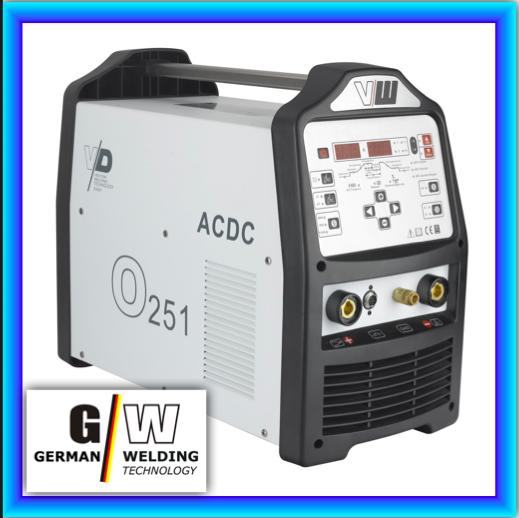 VECTOR Schweißgerät AC/DC WIG O251 Puls m. plasma ALU Inverter TIG MMA DIGITAL