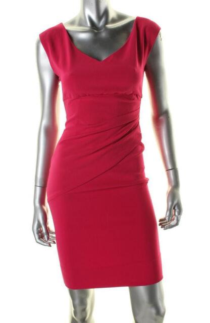 Diane Von Furstenberg /'Bevin/' ~ Pink Ponte Ruched Sheath Dress 12 NEW $348