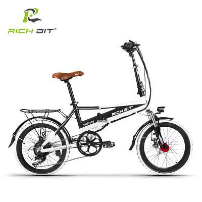 RICHBIT E-Faltrad Faltrad ebike Li-Battery 48V*8Ah elektroroller elektrofahrrad