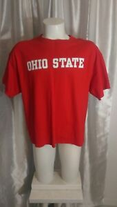 Ohio-State-Buckeyes-College-Football-T-Shirt-XL-in-RED