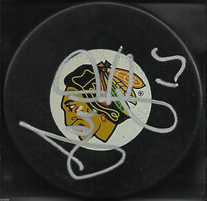ANDREW-BRUNETTE-SIGNED-CHICAGO-BLACKHAWKS-HOCKEY-PUCK-MINNESOTA-WILD-AUTOGRAPH-2
