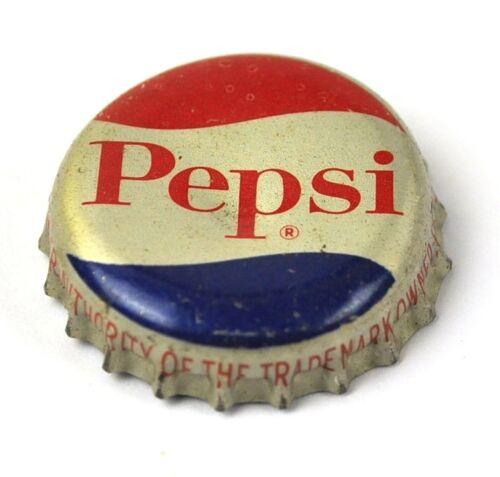 Soda Cap Sello Corcho Recto Fuente Vintage Pepsi Cola Tapa de Botella EE.UU