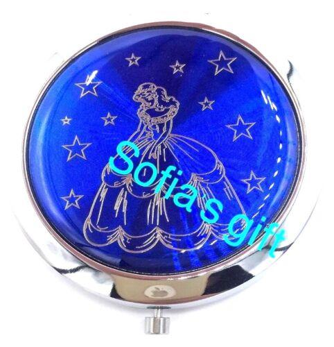 12pcs QUINCEANERA FAVORS COMPACT MIRRORS RECUERDOS SWEET SIXTEEN DARK BLUE