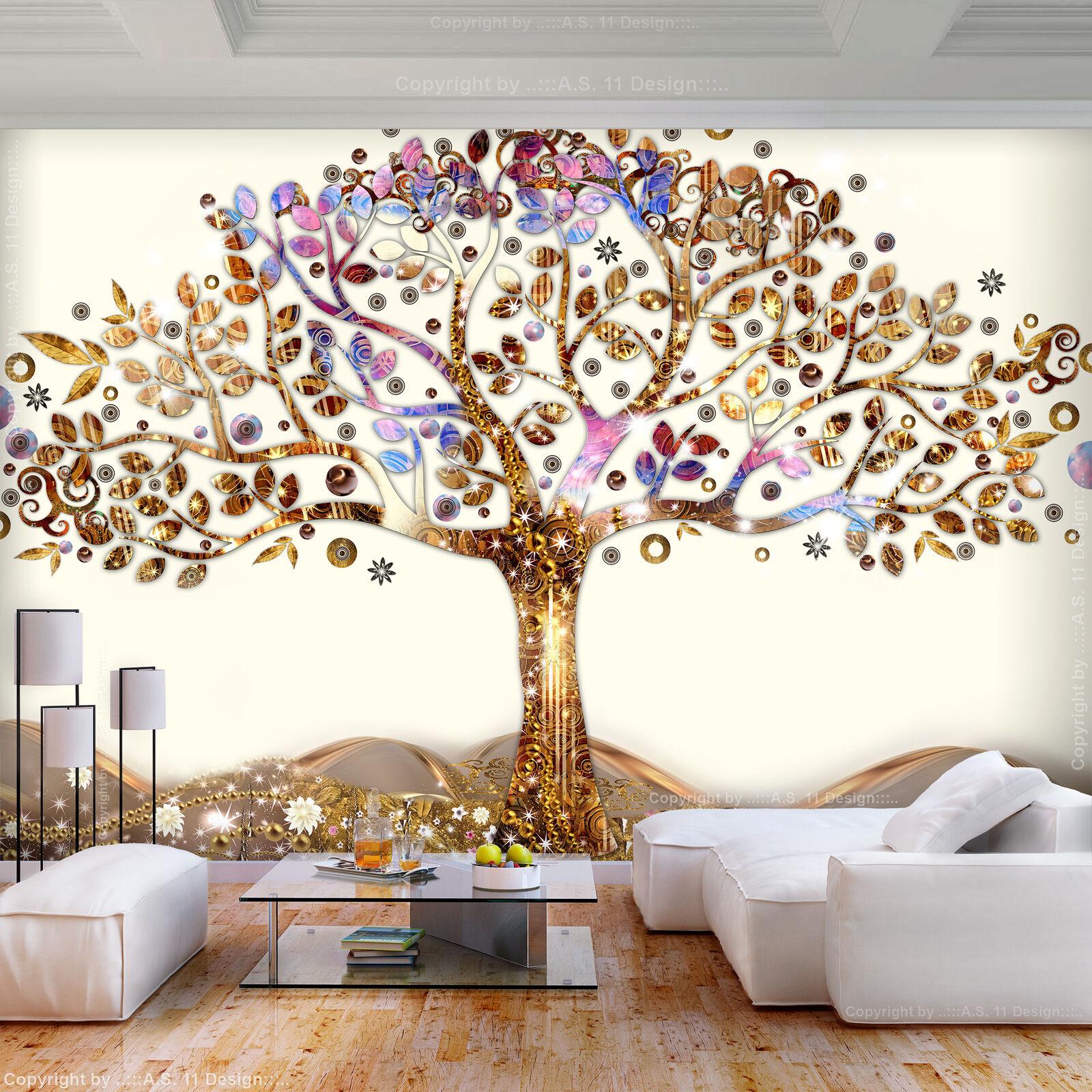 VLIES FOTOTAPETE Baum des Lebens Klimt Gold TAPETE WANDBILDER XXL Wohnzimmer 140