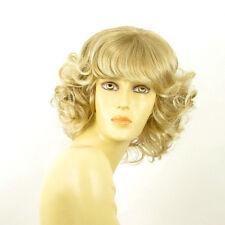 Perruque femme mi-longue blond méché blond très clair VANDA 15t613