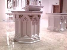 NEW CATHOLIC CHURCH GOTHIC PULPIT/ AMBO, CHASUBLE, VESTMENT, CHALICE, ALTAR