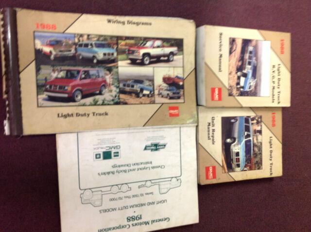 1988 Gmc Truck Rvgp R V G P Rvg  P Service Shop Manual Set