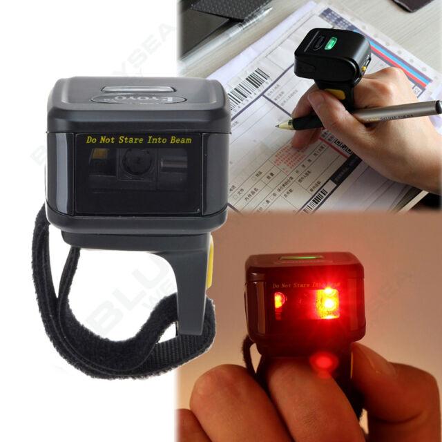 Wireless Wearable Bluetooth Ring Finger 1D 2D Barcode