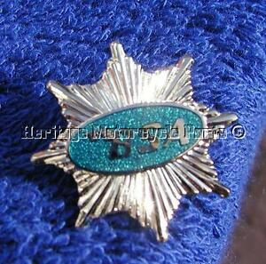 new BSA STAR turquoise enamel and silver metal pin lapel BADGE  English made