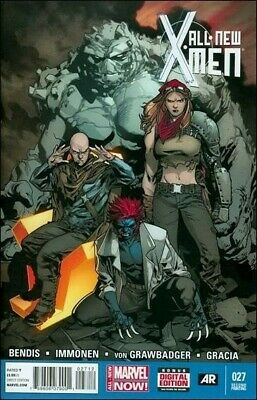 NM COMIC BOOK 1 ALL-NEW X-MEN #27 SECOND PRINT 2014 EMMA FROST RAZE MARVEL NOW