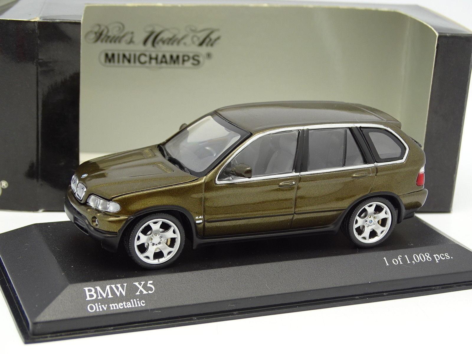 Minichamps 1 43 - BMW X5 4.4I 2000 green green oliva
