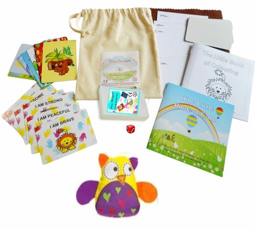 Little Bag of Cards and Therapeutic Games from Story Therapy® 15cm Natural bag