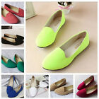 Women Ladies Ballerina Ballet Dolly Pumps Ladies Slip On Flat Boat Loafers Shoes