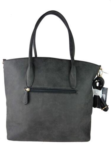 BellaBelly Damen Handtasche Henkeltasche uni Schultergurt Tasche handbag 1767-BB