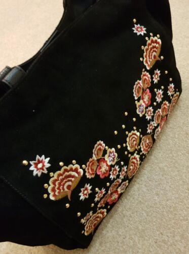 Tas Miller zwart handtas geborduurde 85 Nine Rrp Savannah Floral By £ Suède OEHFE8gwq