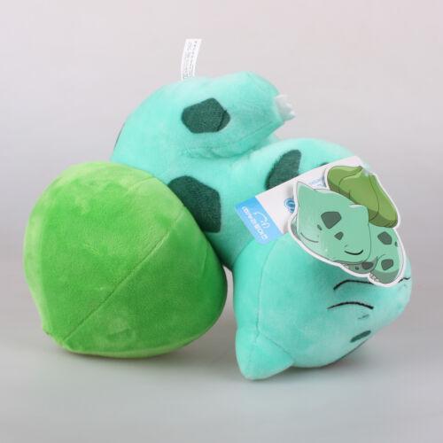 """9.8/"""" 25Cm Official Pokemon Sleeping Bulbasaur Plush Toys Soft Stuffed Doll Gift"""