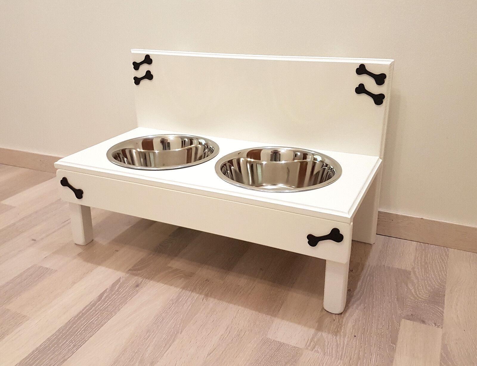 Futterbar   Hundebar   Hohe 20 cm Futterbar, Futterbar, Futterbar, weiß, Napfbar (2tr2a)  | Meistverkaufte weltweit  86b722