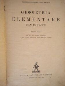 geometria elementare con esercizi 1 enriques amaldi zanichelli scuola ginnasi 84
