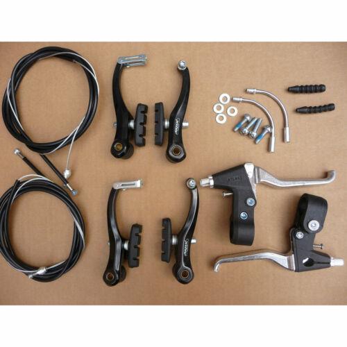 Bicicleta Completo Pinça De Freio V //Cabo Interna E Externa//Kit de alavancas Bicicleta Mtb New