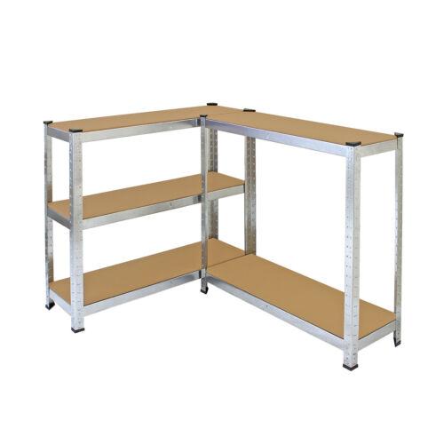 Galvanised 4 Shelving 5Tier Garage Storage//Racking//Heavy Duty Shelves 150kg UDL