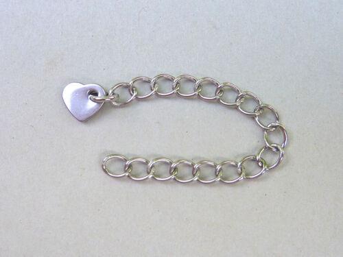 Prolongation Chaine avec cœur pendentif en acier inoxydable 56 mm 2485