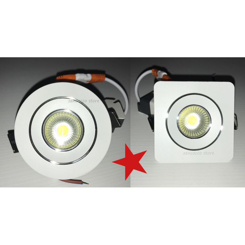 FARETTO Incasso luce LED DOWN LIGHT COB 5W = 50W NON ORIENTABILE luce catalogo