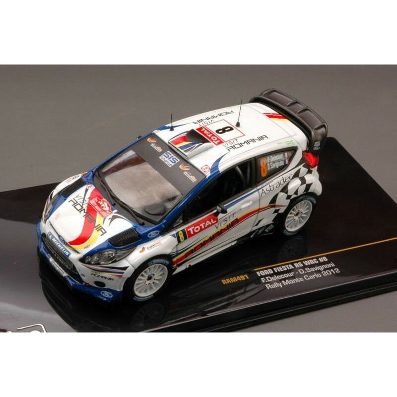 Ixo Ram491 Ford Fiesta Rs WRC N.8 N.8 N.8 6th Delecour-savignoni 1 43 Model Die Cast e6584c