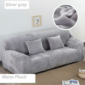 Awe Inspiring Details About 1 2 3 4 Seats Easy Fit Thick Plush Velvet Couch Stretch Sofa Cover Slipcover Home Interior And Landscaping Ponolsignezvosmurscom