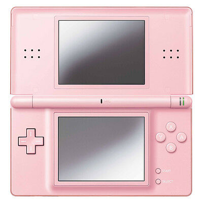 Nintendo DS Lite Coral Pink Handheld System Very Good Condition