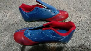 Boy-Girl-Champion-Soccer-Shoes-Cleats-Blue-amp-Red-Sz-5-Youth-Great-cond