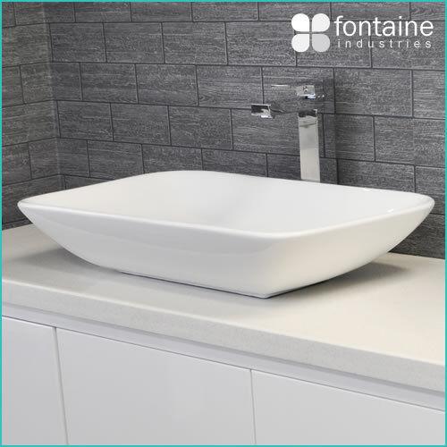 Above Counter Basin Bathroom White Ceramic Modern Large Elegant SECONDS SALE
