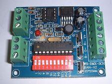 3 channel  DMX LED controller  5 Amp/channel 8-24v UK stock