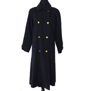 CELINE-Vintage-Long-Sleeve-Coat-Jacket-Black-France-Y03708j