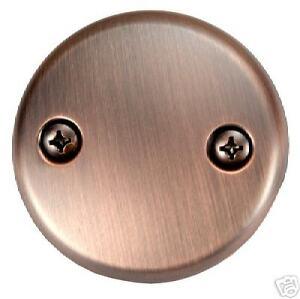 2 Hole Tub Face Plate Antique Copper 51268 Ebay