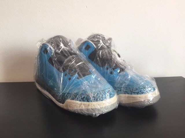 JORDAN 3 RETRO POWER blueE BOY SZ 6