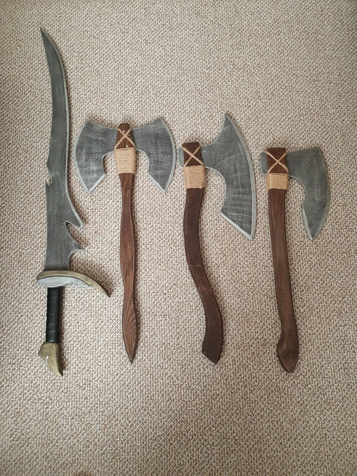 Wooden Sword And Axes Handmade